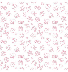 february 14 outline seamless pattern or background vector image