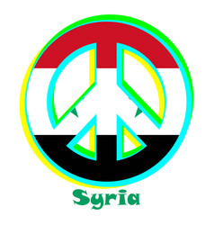 Flag of syria as a sign of pacifism vector
