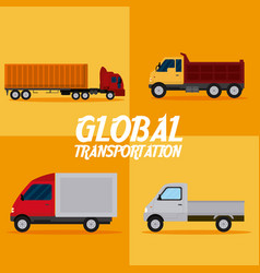 global transportation concept vector image