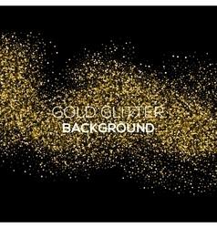 Gold confetti glitter on black background vector image