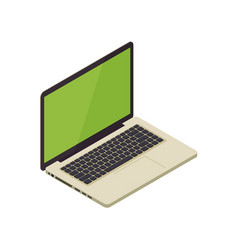 Gold isometric notebook laptop vector