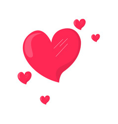 group of heart shapes valentine day vector image