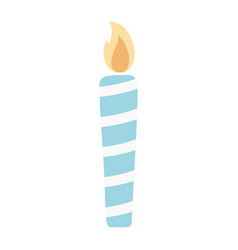 Happy birthday candle decoration celebration vector