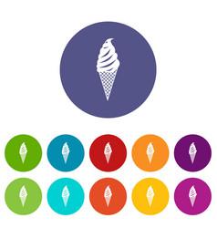 Ice cream set icons vector
