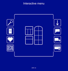 Image of the interactive menu for buying windows vector