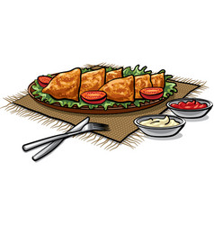 indian food samosas vector image