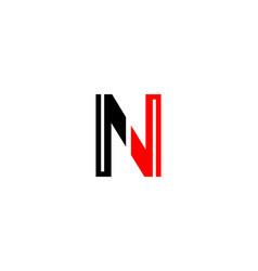initial n letter unique logo vector image