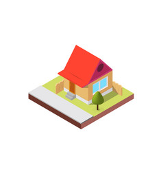 isometric house on white background vector image