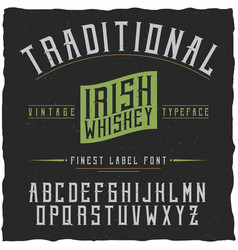 Label font vector