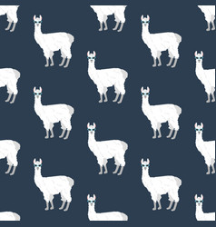 Llama in cateye glasses seamless pattern vector