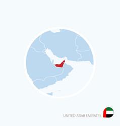 Map icon united arab emirates blue vector