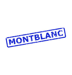 montblanc seal with scratched texture and rounded vector image