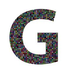 Multicolor letter G vector