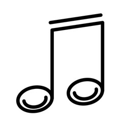 Music note harmony sound line style icon vector