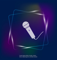 Neon light image microphone layers grouped vector