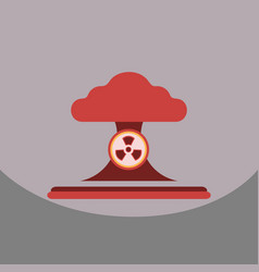 Nuclear bomb explosion in eco vector