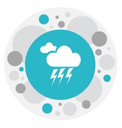 Of weather symbol on lightning vector
