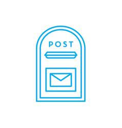 outcoming correspondence linear icon concept vector image
