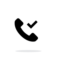 Phone call accept simple icon on white background vector image