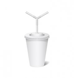 Plastic cup vector