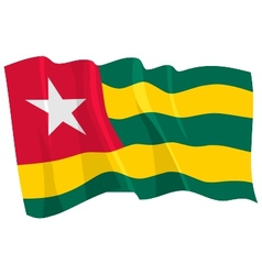 Political waving flag of togo vector