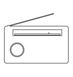 Radio the black color icon vector