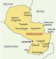 republic paraguay - map vector image