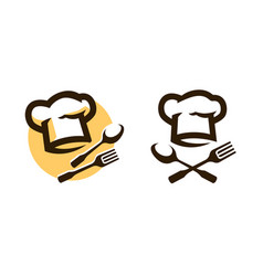 restaurant logo or symbol menu cooking icon vector image
