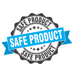 Safe product stamp sign seal vector