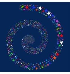 Salute Star Spiral vector
