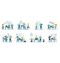 Set business concepts entrepreneurs vector