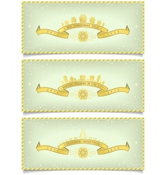 Set of winter banners with holidays design vector