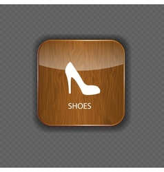 Shoes wood application icons vector image