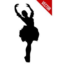 silhouette ballerina vector image