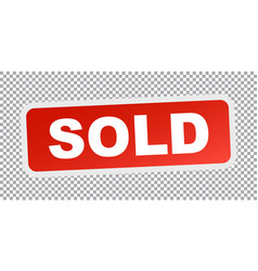 Sold red stamp flat icon vector