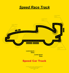 speed car track vector image