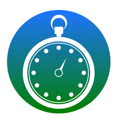 stopwatch sign white icon in vector image