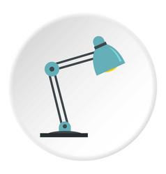 Table lamp icon circle vector