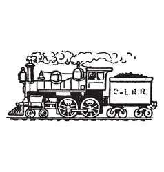 The steamboat and the locomotive vintage vector