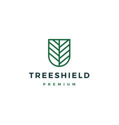 tree shield logo icon vector image