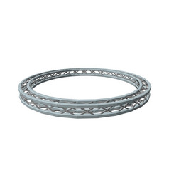 Truss circle isolated on white background vector