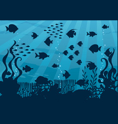 Undersea cartoon landscape vector