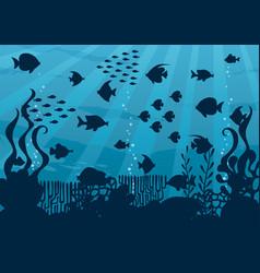 undersea cartoon landscape vector image