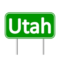 Utah green road sign vector