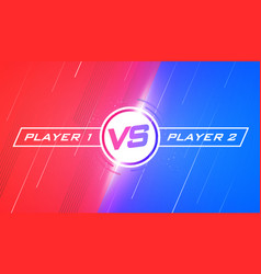 versus screen design flat modern battle template vector image