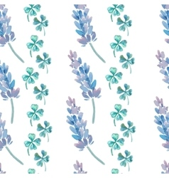 Watercolor pattern with Lavender Lavender and vector