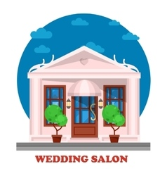 Wedding salon for marriage ceremony building vector