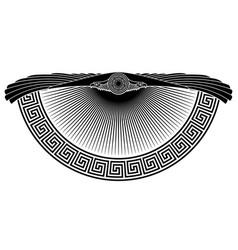 winged eagle solar symbol ancient vector image