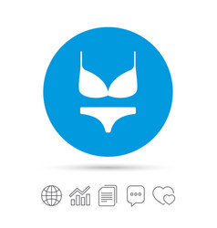 Women bra and panties icon intimates underwear vector