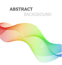 abstract colorful lines wave on white background vector image vector image